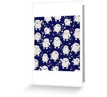 Doctor Who Adipose Cute Pattern Greeting Card