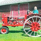 Dads fancy tractor by Jeannie Matthews