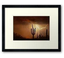 Desert Landscape of the Southwest Framed Print