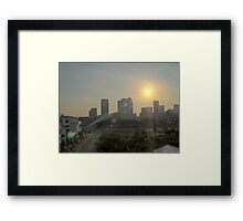 Tampa Sun Framed Print