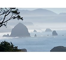 A Misty Day at the Oregon Coast Photographic Print