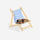 Sunbathing Pug by Prettyinpinks