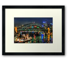 Fantasia - Sydney New Years Eve - The HDR Experience Framed Print