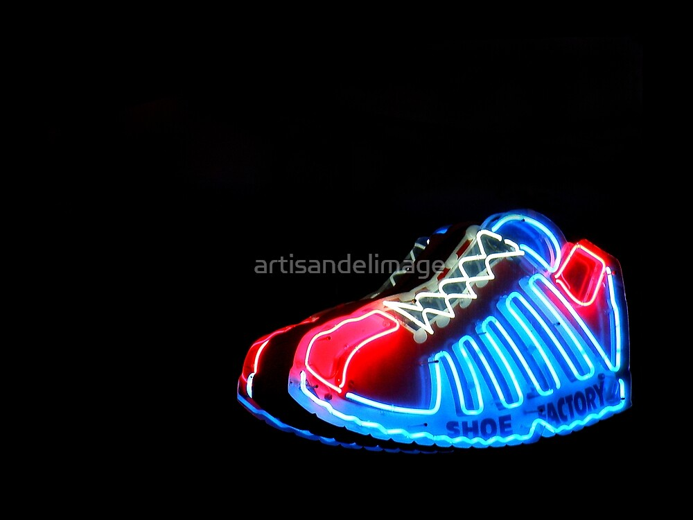 Neon Extravaganza Part Three : These Shoes Were (Not) Meant For Walking by artisandelimage