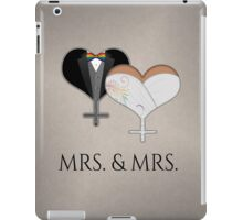 Mrs. Dress and Tux Hearts Bow Tie iPad Case/Skin