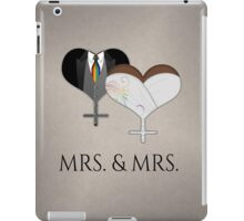Mrs. Dress and Tux Hearts Tie iPad Case/Skin
