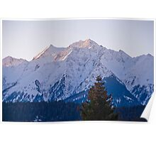 Sunrise on the mountains in Flims, Switzerland Poster