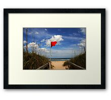 The Red Flag Framed Print