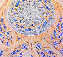 Rosácea Mosteiro Batalha. monastery rose window . color pencil by terezadelpilar~ art & architecture