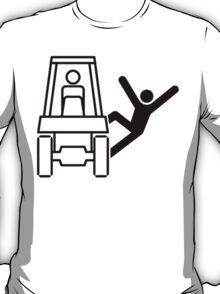 Jumping, Falling Off The Forklift/Tractor T-Shirt