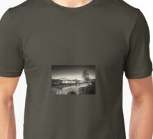 Along the Canal.... in Sepia Unisex T-Shirt