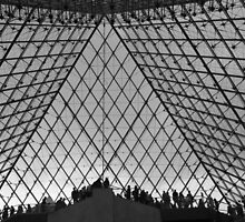 The Louvre Pyramid by Fiona Allan Photography