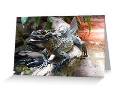 Water Dragon in Reptile House at Melbourne Zoo Greeting Card