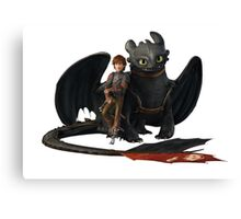 hi cup and toothless Canvas Print