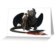hi cup and toothless Greeting Card