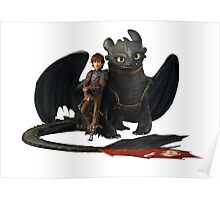 hi cup and toothless Poster
