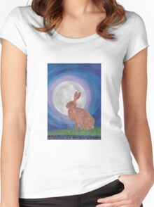 March Hare Women's Fitted Scoop T-Shirt
