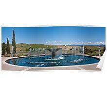 Napa Valley Fountain Poster