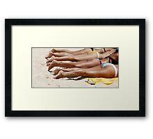 brazilian bums Framed Print