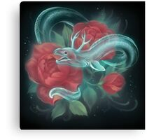 Ghost eel and roses Canvas Print