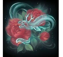 Ghost eel and roses Photographic Print