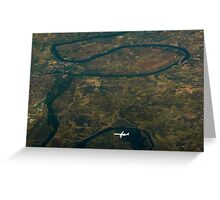 Over Ebro River                     Greeting Card