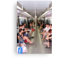 In the metro Canvas Print