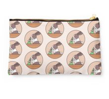 Cute Bunny Rabbit Scientist with Green Microscope Studio Pouch