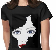blue eyes girl Womens Fitted T-Shirt