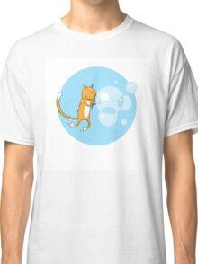 Cat and soap bubbles. Classic T-Shirt