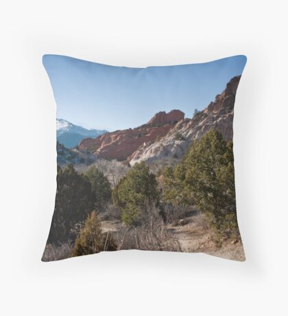 Three Peaks Throw Pillow