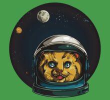 Space Kitty Astronaut Cat  Kids Tee