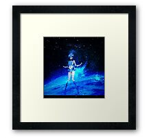 sailor moon crystal mercury transformation galaxy  Framed Print