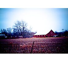 RED BARNS ARE STILL IN STYLE! Photographic Print