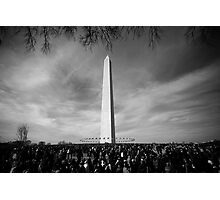 Black and White of The Washington Monument  Photographic Print