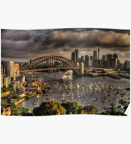 Celebration - Sydney Harbour New Years Eve - The HDR Experience Poster
