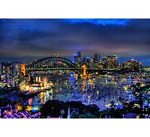 Illumination - Sydney Harbour, Australia - The HDR Experience Photographic Print
