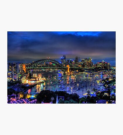 Illumination - Sydney Harbour, Australia - The HDR Experience Photographic Print