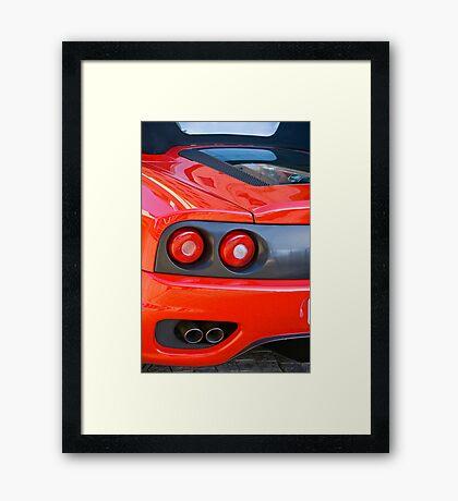 Ferrari 360 F1 Spider Tail Lights & Exhaust Framed Print