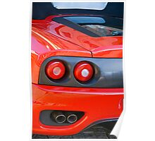 Ferrari 360 F1 Spider Tail Lights & Exhaust Poster
