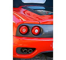 Ferrari 360 F1 Spider Tail Lights & Exhaust Photographic Print