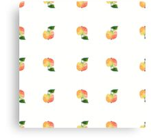 seamless watercolor pattern made of scattered decorative apples Canvas Print