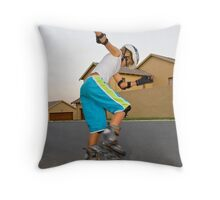 Afternoon Rollerblading Session Throw Pillow
