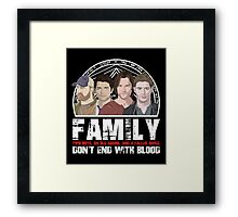 Family Don't End With Blood Framed Print
