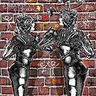 Graffiti Hearts [Digital Figure Illustration] Message on the Mortar Version 1 by Grant Wilson