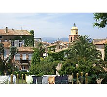 St Tropez communal wash house and lawns Photographic Print