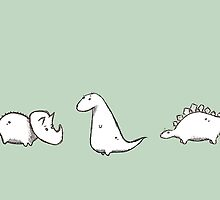Dino Doodles Collection by JurassicArt