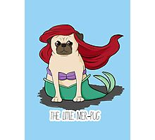 The Little Mer-Pug Photographic Print