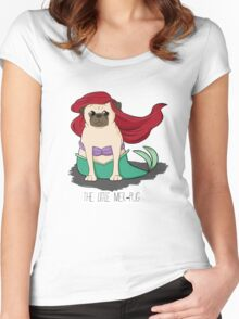 The Little Mer-Pug Women's Fitted Scoop T-Shirt