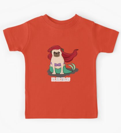 The Little Mer-Pug Kids Tee